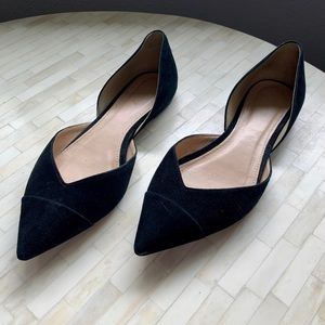 J Crew suede pointed toe flats